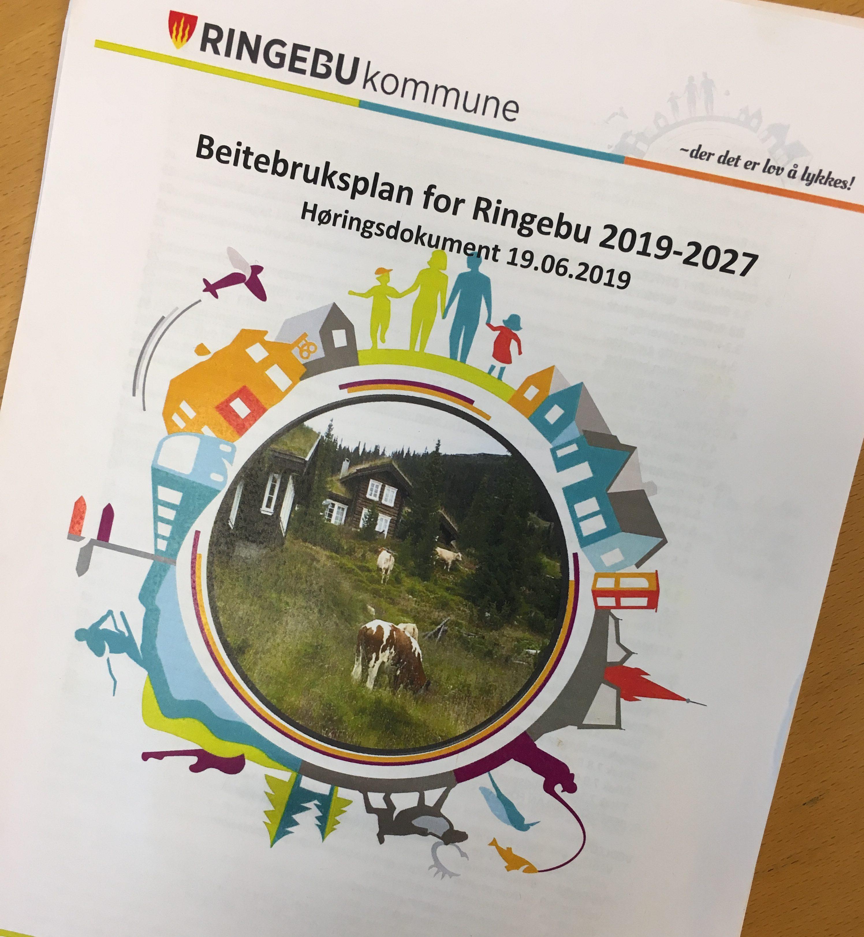 Revidert beitebruksplan for Ringebu 2019-2027 er lagt ut til høring og offentlig ettersyn