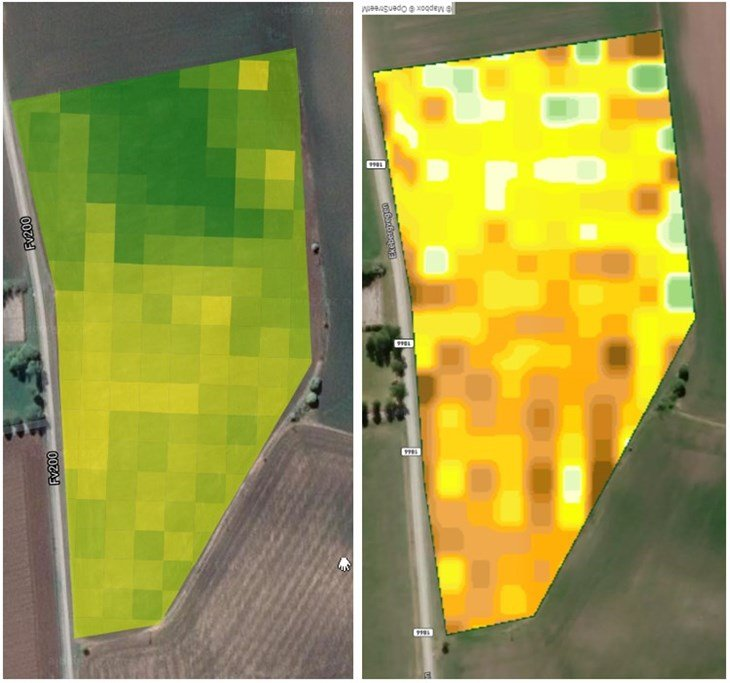 Variabel gjødsling ved hjelp av satelittbilder